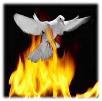 Znalezione obrazy dla zapytania Języki ognia Duch Święty grafika
